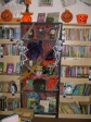 Halloween themed display in the library