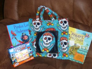 Pirate themed travelling book bag