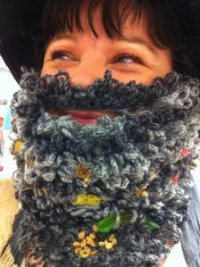 My knitted version of Mr Twit's beard for last year's Roald Dahl Day celebrations.